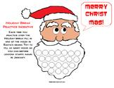 Holiday Break Piano Incentive... Fill Santa's Beard