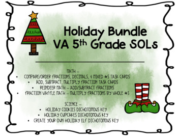 Holiday Bundle - 5th Grade VA SOLs