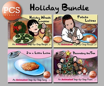 Holiday Bundle - Animated Step-by-Step Recipes/Poems/Songs PCS