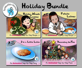 Holiday Bundle - Animated Step-by-Step Recipes/Poems/Songs SymbolStix