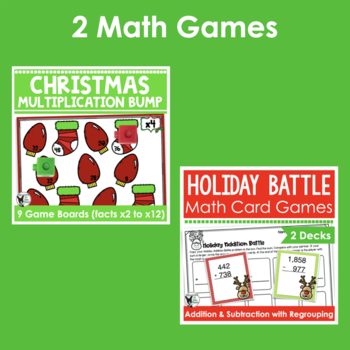 Holiday Bundle- Contains 8 Resources (ELA and Math)