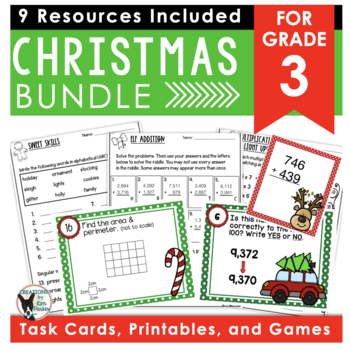 Holiday Bundle- ELA and Math Activities