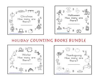 SALE-Holiday Bundle Math Counting Books