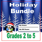 Christmas Activities - HOLIDAY BUNDLE - Grades 2 to 5