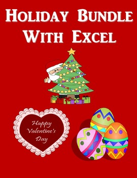 Holiday Microsoft Excel Bundle (Christmas, Valentine's Day, Easter)