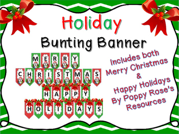 Holiday Bunting Banner