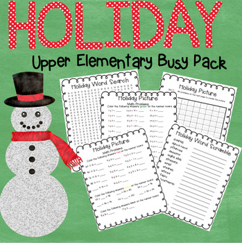 {Holiday Busy Pack} Grades 3 - 5