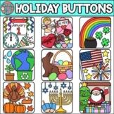 Holiday Buttons • Clip Art • SpeakEazySLP