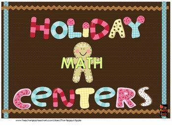 Holiday CC Math Centers:Non Standard Measurement, Subtraction & Graphing