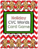 Holiday CVC Words Card Game