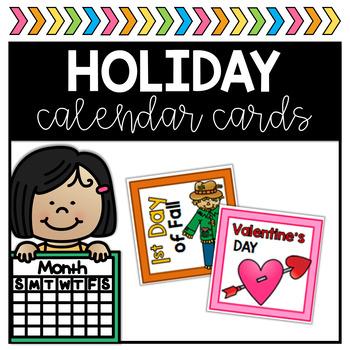 Holiday Calendar Cards