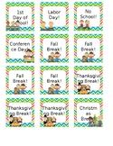 Holiday Calendar Cards- Editable