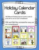 Holiday Calendar Cards set-digital images and printable!