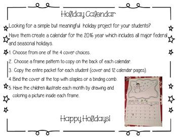 Holiday Calendar Gift