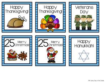Holiday Calendar Pieces!