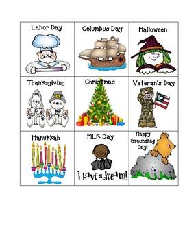 Holiday Calendar Pieces