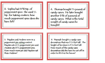Holiday Candy Cane Fraction Game