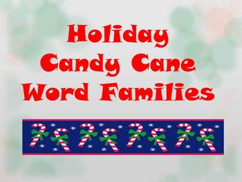 Holiday Candy Cane Word Families Center