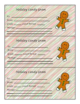 Holiday Candy Grams