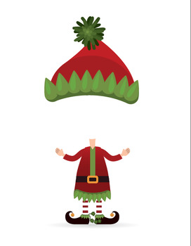 Holiday Card Elf Cut Outs