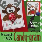 Holiday Cards-Rudolph Candy Gram (Christmas Lollipop Card)