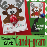 Holiday Cards-Rudolph Candy Gram (Christmas Lollipop Card) & Poster