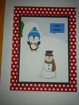 Holiday Card from teacher to student