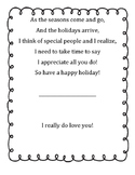 Christmas Card, Hanukah, Kwanza, Holiday Card-