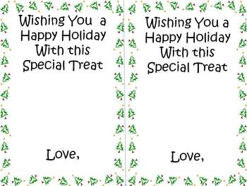 Holiday Card to Students