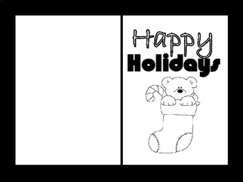 Holiday Cards Classroom Coloring Project
