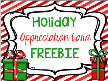 Holiday Cards FREEBIE