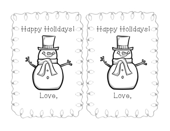 Winter Holiday Cards/Gift tags