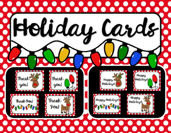 Holiday Cards and Thank You Notes