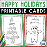Holiday Cards to Color | Christmas Card Craft