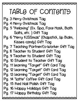 Holiday Celebration Gift Tag BUNDLE