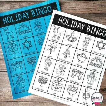 Holiday Celebrations Junior Bingo