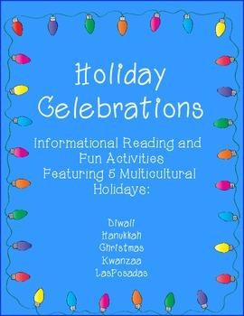 Celebrations Holiday Unit: Christmas, Hanukkah, Kwanzaa, Diwali, & Las Posadas