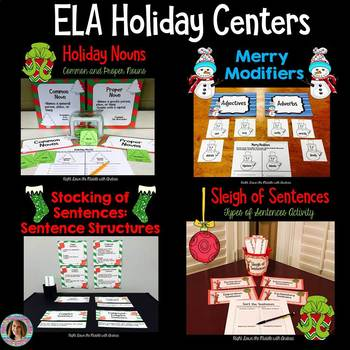 Center Activities for Language Arts (Christmas Edition)