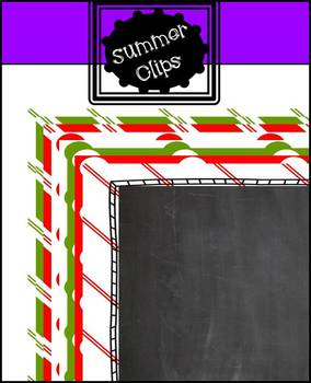 Holiday Chalkboard Backgrounds and Borders