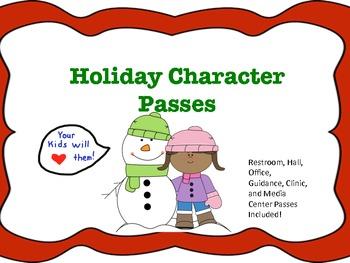 Holiday Character Passes
