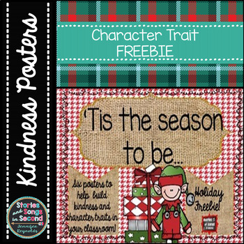 Holiday Character Traits Poster Set--Freebie