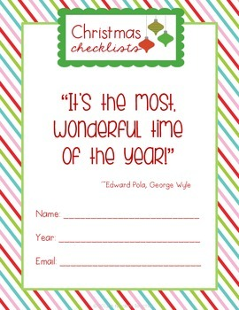 Holiday Checklists