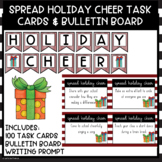 Holiday Cheer 100 Kindness Task Cards and Bulletin Board