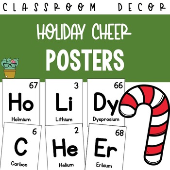 Holiday Cheer Periodic Table of Elements Posters