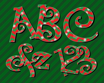 "Holiday Chevrons in Red and Green - 2.5 - 3"" high - 300 DPI, PDF and PNGs"