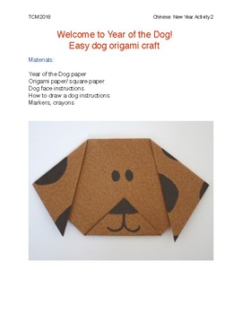 Holiday- Chinese New Year Dog Craft