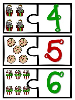 Holiday/Chirstmas Themed Counting & Cardniality Math Station