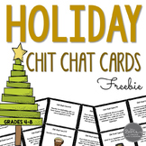 Winter Holiday Chit Chat Cards FREEBIE for Grades 4-8 Comm