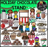 Holiday Chocolate Stand Clip Art Set {Educlips Clipart}