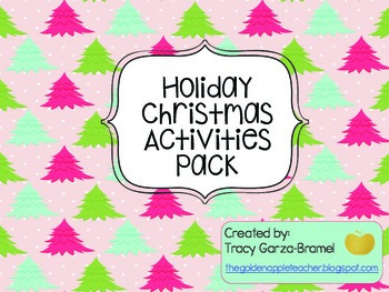Holiday Christmas Activities Pack